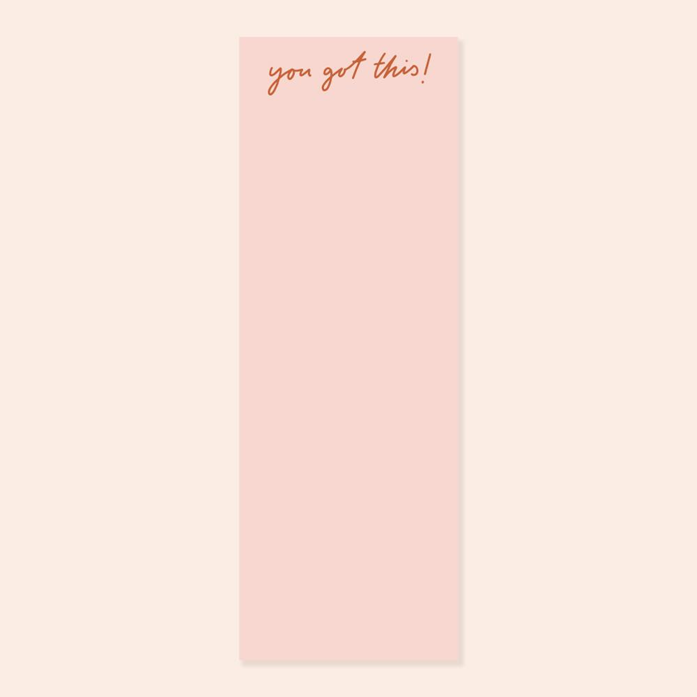 Pink You Got This Long Desk Pad