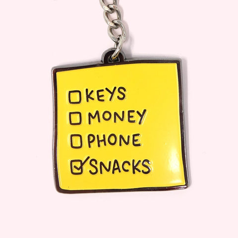 Snacks First Keyring