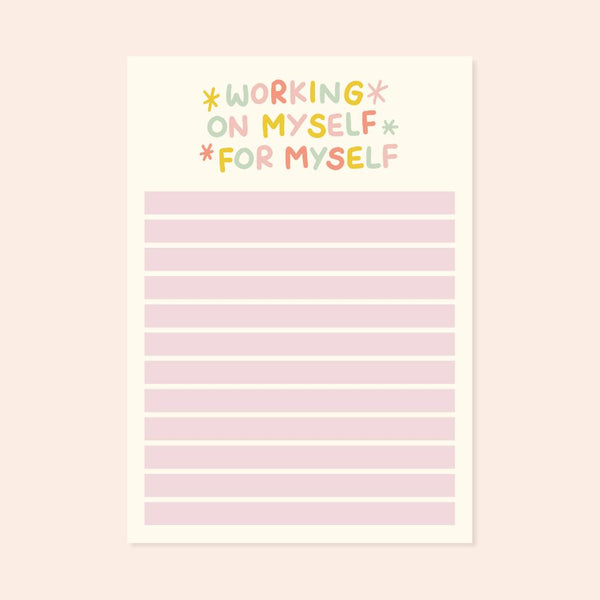 A6 Working On Myself For Myself Checklist