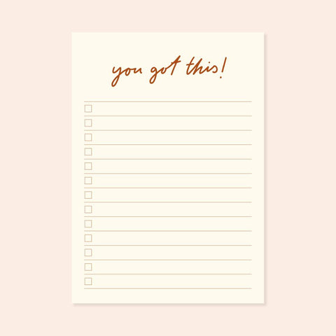A6 You Got This Checklist Desk pad sighh