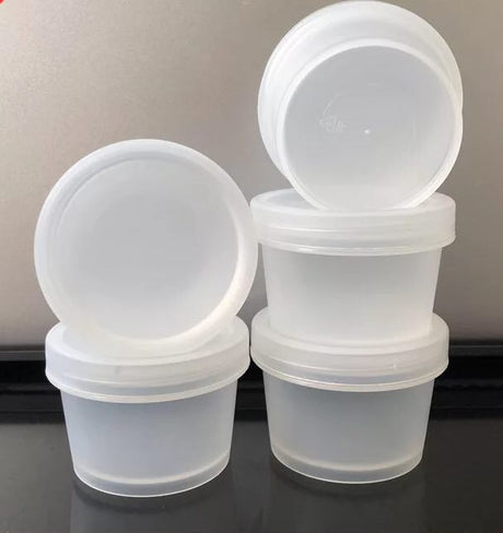***SLOW BOAT*** 25-transparent plastic tubs