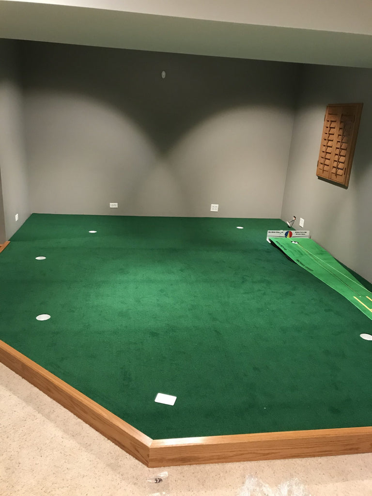 Building an Indoor Putting Green, from Simple to Spectacular