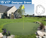 15' x 17' DIY Backyard Putting Green