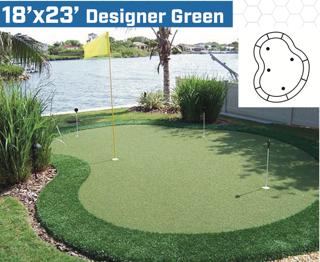 18' x 23' DIY Backyard Putting Green - Golf Gear Box