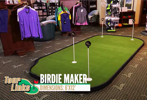 TourLinks Birdie Maker 6'x12' Golf Putting Green