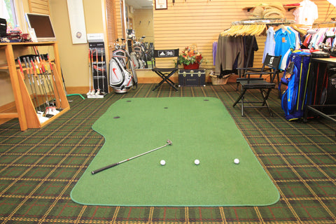 Big Moss Golf Country Club 6'x10' Indoor Putting Green