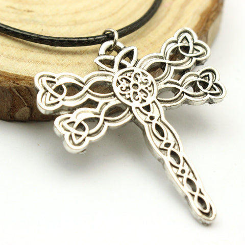 Dragonfly Rope Leather Necklace