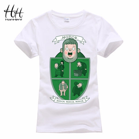HanHent Hodor Games Of Thrones Women T-Shirts Funny  A Song of Lce And Fire T Shirt The Big Bang Theory Top Tees Cat Lady Tshirt