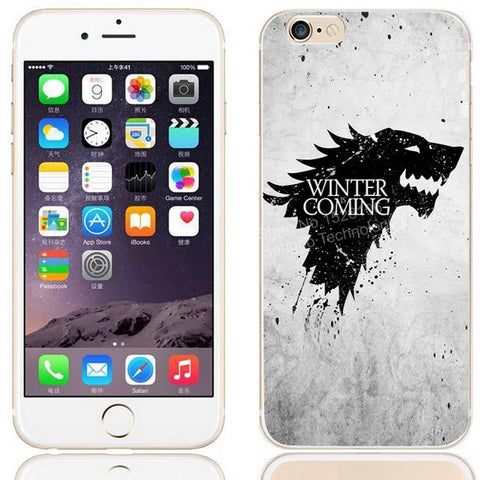 House Stark Soft Silicone Cover for iPhone 5 5s 6 6s Plus (Winter is coming)