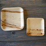 Areca Medium Square Plates • 5 pieces