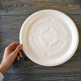 Sugarcane Large Round Plate • 10 pieces - plantnmore