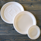 Sugarcane Medium Round Plates • 20 pieces