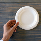 Sugarcane Small Round Plate • 20 pieces