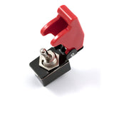 RED TOGGLE SWITCH WITH COVER AND LIGHT
