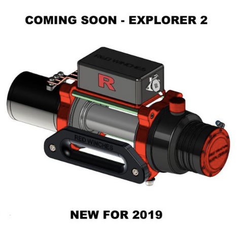 RED WINCHES EXPLORER-2 HIGH PERFORMANCE WINCH