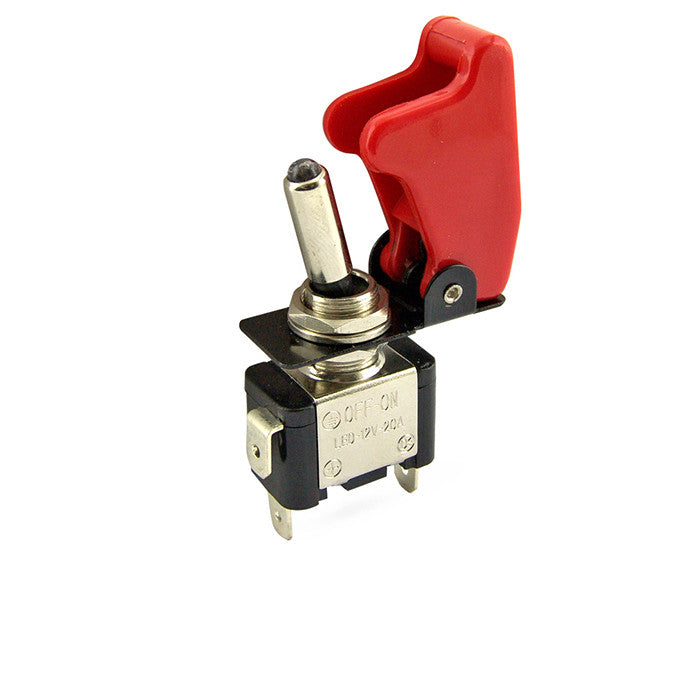 Toggle Switch Cover >> Red Toggle Switch With Cover And Light