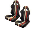STRIPED RACING SEATS WITH RECLINER (PAIR)