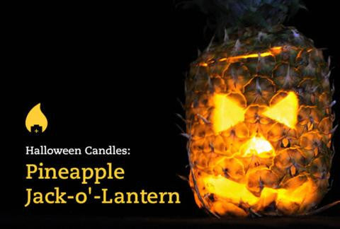 Create a Pineapple Jack-o'-Lantern