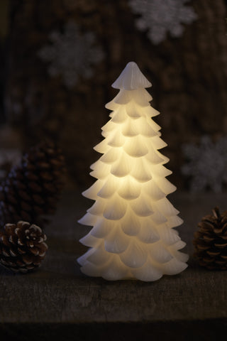 Real Wax Christmas Tree, White (3 sizes)