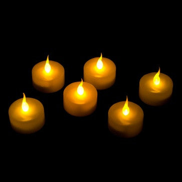 6 Pack of battery operated tealights illuminated