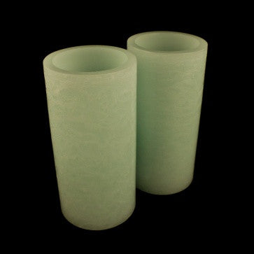 "candle impressions 8"" aqua marble LED candles (2 pack)"