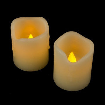 "Smart Candle 2.5"" Real Wax Flameless (Two Pack) illuminated"
