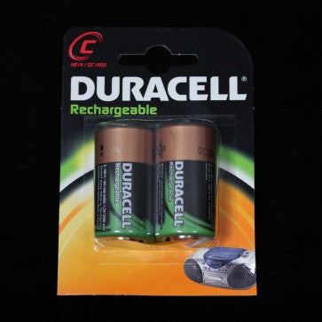 Duracell C Rechargeable Batteries (2 Pack)