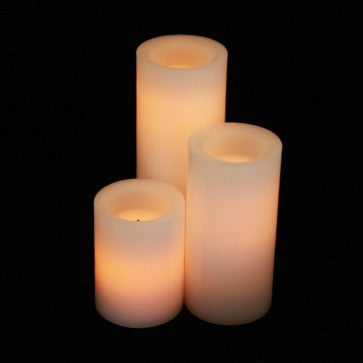 candle impressions vanilla scented bundle white with timer illuminated