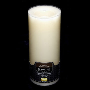 Candle Impressions Premium Round with 5 Hour Timer, Ivory