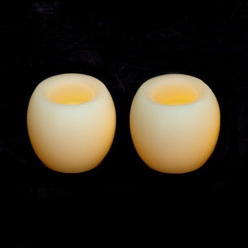 mini hurriance candle impressions flameless candles cream 2 pack illuminated