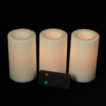 inglow remote control all weather battery candles (3 pack) illuminated
