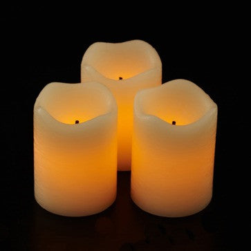 "2.5"" candle impressions real wax rustic pillars 2 pack illuminated"