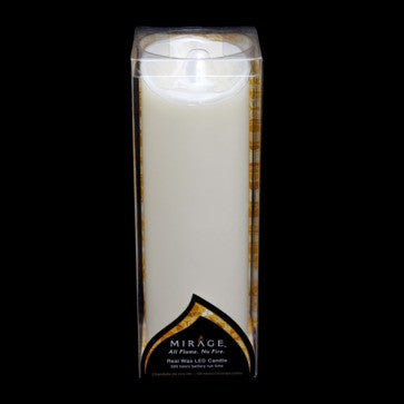 9 Mirage Real Wax Pillar Candle With Moving Flame Effect