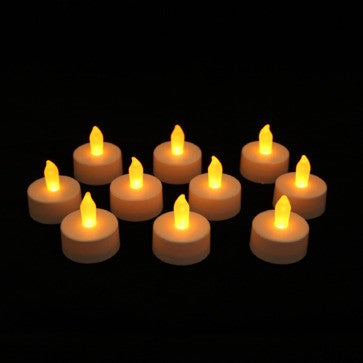 10 pack battery candle impressions tea lights turned on