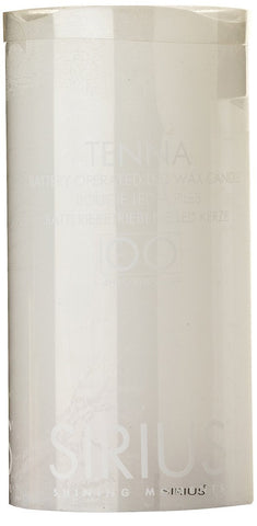 Tenna Real Wax Rustic Pillar with 4/8 Hour Timer, White (3 sizes)