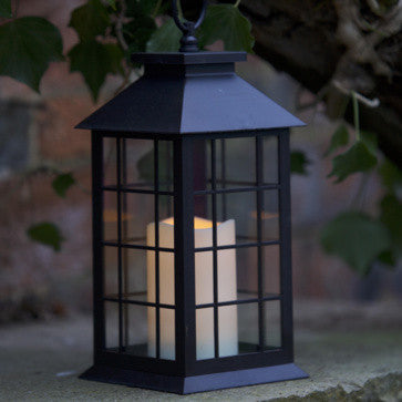 Outdoor Battery Operated Window Lantern with Timer