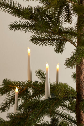 Christmas Tree Candle Lights, White (4 pack)