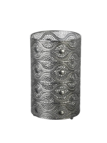 Pierced Candle Holder - Silver (Large)