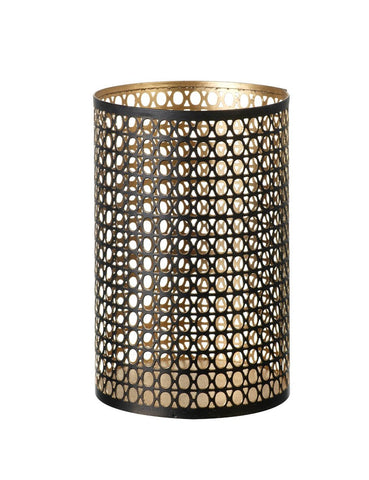 Pierced Candle Holder - Black