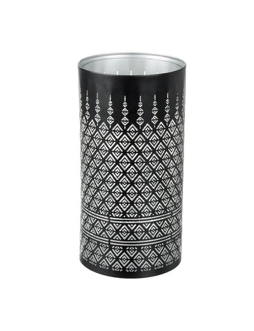 Pierced Candle Holder - Contemporary Diamonds (Large)