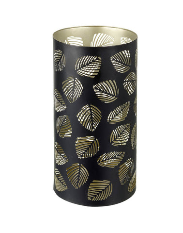 Pierced Candle Holder - Contemporary Leaves (Large)