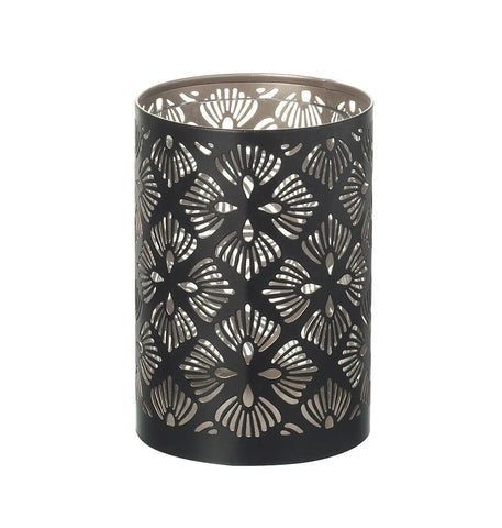 Pierced Candle Holder - Contemporary Flowers (Small)