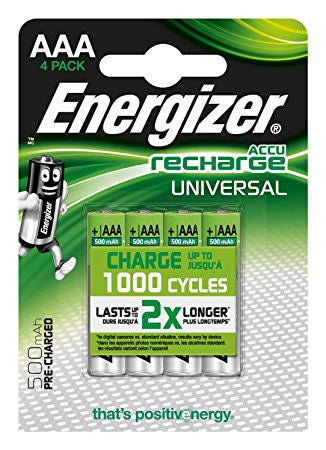 Energizer® Recharge AAA Rechargeable Batteries (4 pack)