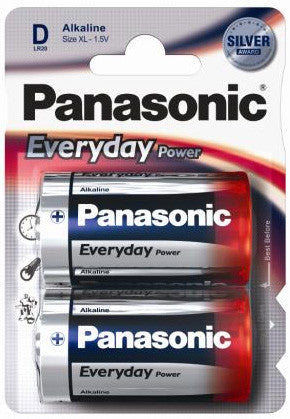 Panasonic® Everyday Power Silver Alkaline Battery D (2 Pack)