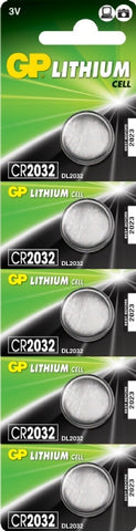 GP CR2032 Battery (5 pack)