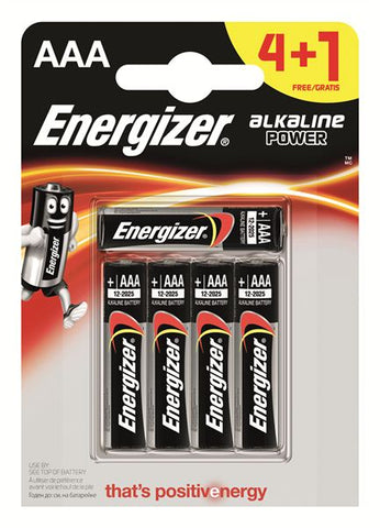 Energizer® Alkaline Power Battery AAA (4+1 Free)