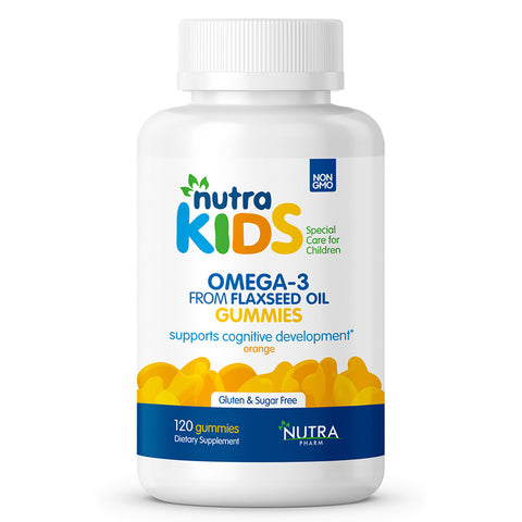 NUTRA KIDS OMEGA 3 FROM FLAXEED OIL 120 GUMMIES