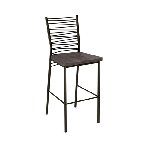 Crescent non swivel stool (distressed solid wood seat)