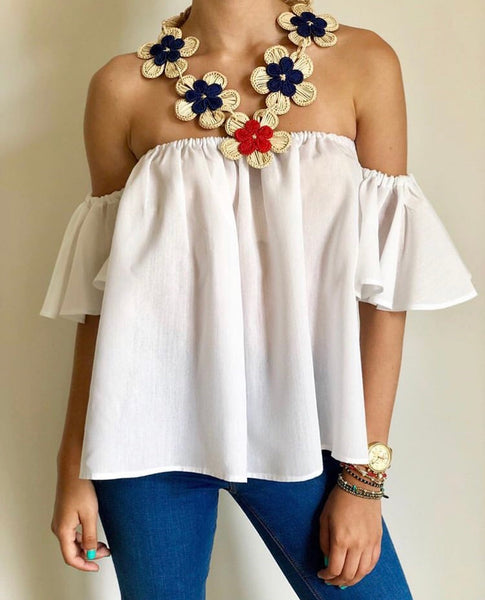 White Isabella Top