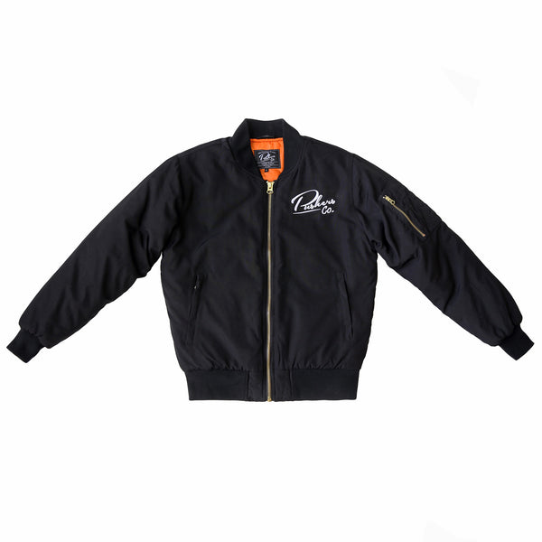 Pushers Co. Unisex Bomber Jacket Black
